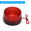Wired Alarm Strobe Signal Safety Warning LED Light Flashing Waterproof 12V 120mA Safely Security for Alarm System, Red