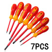 7Pcs Electrician Insulated Magnetic Electrical Hand Screwdriver Tool Set Durable