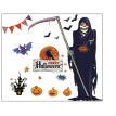 〖Follure〗60x90cm Halloween Witch Background Decorated Living Room Bedroom Wall Stickers Grim Reaper Wall Stickers