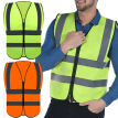 Hi-Vis Safety Vest Reflective Jacket Security Waistcoat Warp Knitting Cloth