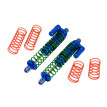 Tailored 2Pcs Aluminium Front/Rear Adjustable Spring Shocks For TRAXXAS X-MAXX 1/5 RC Car