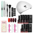 Gel Nail Polish Kit Manicure Tools Nail Lamp Nail Polish Base Top Coat Set