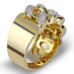 18K Yellow Gold Filled 1.92 Ct Mens Diamond Engagement Wedding Pinky Ring Band