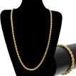 Gold Color Filled Necklace Chain For Men And Women Necklace Bracelet Set Gold Rope Chain Necklace High Quality