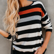 Autumn Women Long Sleeve Tee Striped O Neck Ladies T-Shirt Loose Bottom T Shirt Fall Clothes Tops