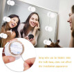 Vanity LEDs Mirror Lights Kit with 10 Bulbs Adjustable 10 Brightness & 3 Lighting Modes USB Mirror String Light for Makeup Dressin