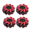 Siaonvr 4pcs Model Drive Mecanum Omnidirectional Tire Tyre Wheel 60MM For RC Car Robot