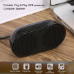 HK-5002 Computer Speaker USB Speaker Plug & Play Portable USB-powered Speaker Double Horn 3W Output for PC Laptops