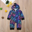 Newborn Baby Boy Girl Dinosaur Colorful Hooded Romper Bodysuit Jumpsuit Clothes
