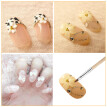 6pcs/set Professional Nail Art Painting Brush Sable Brushes Set Sizes #2/#4/#6/#8/#10/#12 Nail Art Brush Design Pen Kit Wooden Han