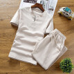 (Toponeto) Summer Fashion Casual Men's Cotton Printed Short Sleeve Suit