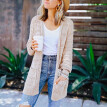 Roseonmyhand Fashion Women Pocket Long Sleeve Cardigan Casual Loose Sweater Tops Trench Coat