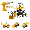 DIY Bulldozer Take Apart Toys-With Electric Drill-Converts to Remote Control Car