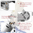 Electric Portable Low-Noise Lightweight Cloth Cutter Fabric Round Cutting Machine TY-90B