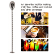 1Pc Stainless Steel Cocktail Spoon Beverage Coffee Mixing Layering Tool with Long Handle,Stainless Steel Cocktail Spoon