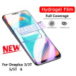 Mzxtby 6D Clear Soft Hydrogel Full Protective Film 5T 5 3T 3 Screen Protector For Oneplus 5t 6 5 Screen Not Glass with film tools