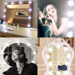 10Pcs Vanity Mirror LED Light Bulbs Kit USB Charging Port DIY Comestic Make Up Lamp Dimmable 5 Levels Brightness Adjustable for Dr