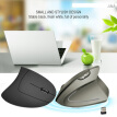 HXSJ T24 2.4G Wireless Mouse Vertical Ergonomic Adjustable DPI 800 1600 2400 6 Buttons with USB Receiver for Notebook PC Laptop Co