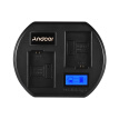 Andoer Fast Battery Charger Dual-channel Camera Battery Charger Digital LCD Display USB Input for Sony NP-FW50 Battery