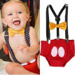 Cute Baby Girls Boys Dress Romper Birthday Photography Prop Costume 2PCS Set New