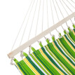 Double Fabric Hammock With Pillow Spreader Bar Polyester UV Resistant