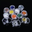 (Toponeto) 12 Color/Set Stereoscopic Pentagram Nail Art Decoration