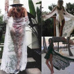 Summer Women Lace Boho Bikini Cover Up Kimono Cardigan Blouse Long Sunscreen