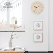 Jia Hao Nordic simple wooden carved clocks 12 inches creative personality fashion living room study bedroom wall clock mute quartz clock