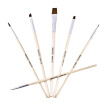 1 Set Of 6 Pieces High Quality Multi-purpose Human Face Cover Brush Makeup Tool Synthetic Hair Artist Oil Watercolor