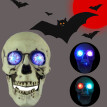 Siaonvr Portable Colorful LED Glowing Skull Night light Halloween Party Decorate Toy