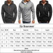 Men's Casual Hooded Hoodie Warm Sweater Zip Jacket Coat Sweatshirt Outwear US