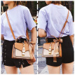 Fashion Simple Small Square Bag Women's Designer Handbag PU Leather Chain Mobile Phone Shoulder Bags