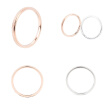 Fine Frosted Ring Titanium Steel Rose Gold Ring Couple Ring Fashion Tail Ring Fashion Personality Women Jewelry