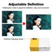 Mini Pocket LED Projector Portable LCD Projector 400 Lumens 720P/1080P Projection Machine HD AV TF Card Slot With Remote Controlle