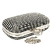 Womens Diamante Evening Bag Clutch Purse Party Bridal Prom Handbag Shimmering