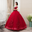 2019 New Off The Shoulder Luxury Lace Party Vintage Quinceanera Dresses 4 Colors Quinceanera Gown Evening Dress