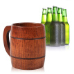 Greensen 1Pc Practical Wooden Beer Milk Coffee Tea Mug Handmade Home Bar Drinking Cup With Handle , Wooden Mug,Beer Mug