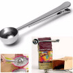 Stainless Steel Coffee Scoop with Bag Clip Sealing Ground Coffee Measuring Spoon Scoop Silver