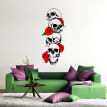〖Follure〗Skull Skeleton Background Decorated Living Room Bedroom Wall Stickers