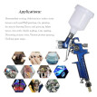 KKmoon 1.0mm Mini HVLP Air Spray Gun Airbrush Kit Touch Up Paint Sprayer Gravity Feed Air Brush Set Auto Car Painting for Spot Rep