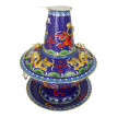 Zhangyitong Cloisonne Charcoal Pot (Blue Dragon) 5291
