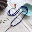 Chinese style beautiful couple blue necklace wearing beautiful to send friends