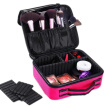 2019 Men and Women Travel Makeup Case Unisex Waterproof Cosmetic Make Up Bags Adjustable Travel Toiletries Organizer Kit