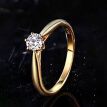 18K White Gold Rose Gold 925 Silver Women Gift Engagement Party Rings Motehrs Day Gifts