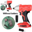 21V Electric Brushless Cordless Impact Wrench Drill High Torque Tool US Plug
