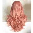 〖Follure〗70CM Sexy Natural Wave Pink Party Wigs Long Curly Hair Synthetic Wig