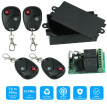 433Mhz DC 12V 2CH Universal 10A Relay Wireless Remote Control Switch Receiver Module and 4PCS 2 Key RF 433 Mhz Transmitter Remote