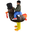 Adults Turkey Inflatable Costume Prop Blow Up Inflatable Fancy Dress for Christmas Halloween Cosplay Dress Up Party Stage Performa