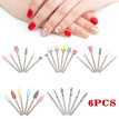 6PCS / Bag Diamond Silicone Nail Drill Bit Set for Manicure / Pedicure Kit for Removing Manicure Nail Polish UV Gel Tool