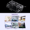 Acrylic Remote Control Storage Box Mobile Phone Holder Sundries Wall Mounted Bin Storage Rack Container w/3 Lattices Charging Cabl